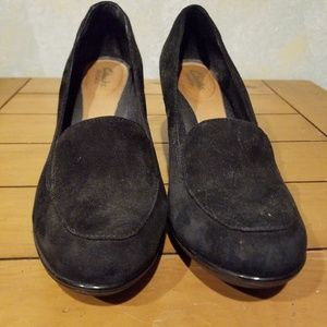 Clarks Leather Upper Wedge sz 9.5 M